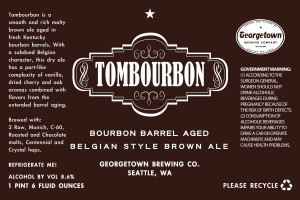 Georgetown Tombourbon Bourbon Barrel Aged Belgian Style Brown Ale