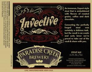 Paradise Creek Brewery Invection Stout Ale
