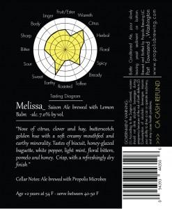 Propolis Melissa (back label)