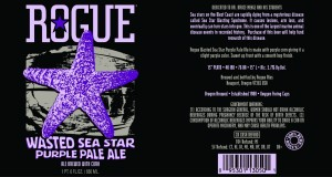 Rogue Wasted Sea Star Purple Pale Ale brewed with Corn