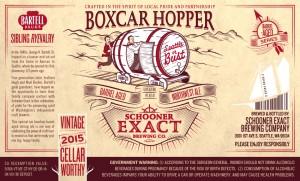 Schooner Exact Boxcar Hopper Barrel Aged Northwest Ale