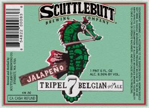 Scuttlebutt Brewing Co. Jalepeño Tripel 7 Belgian Style Ale