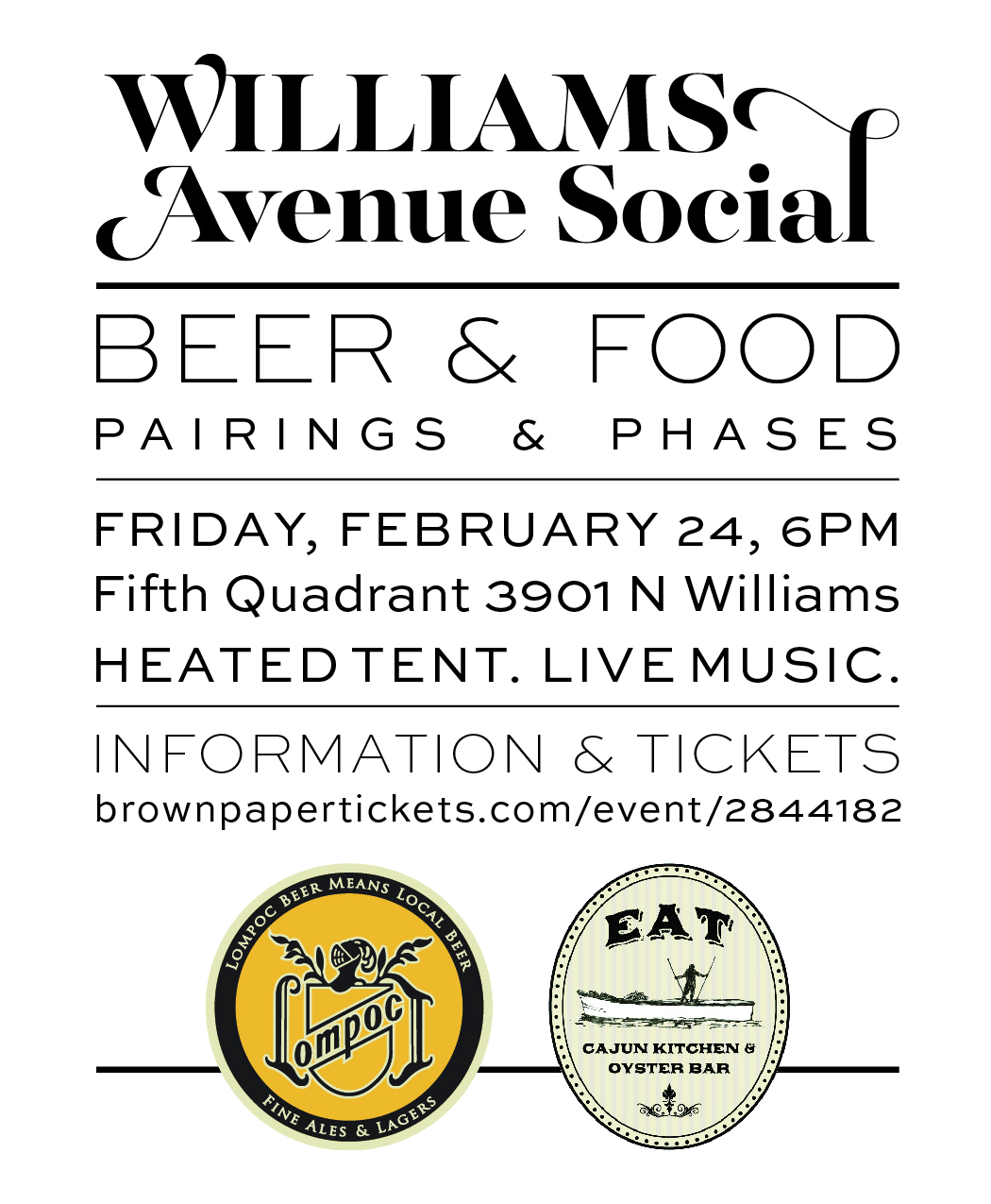 Social Kitchen And Brewery: Lompoc Brewing And EAT Cajun Kitchen & Oyster Bar Partner
