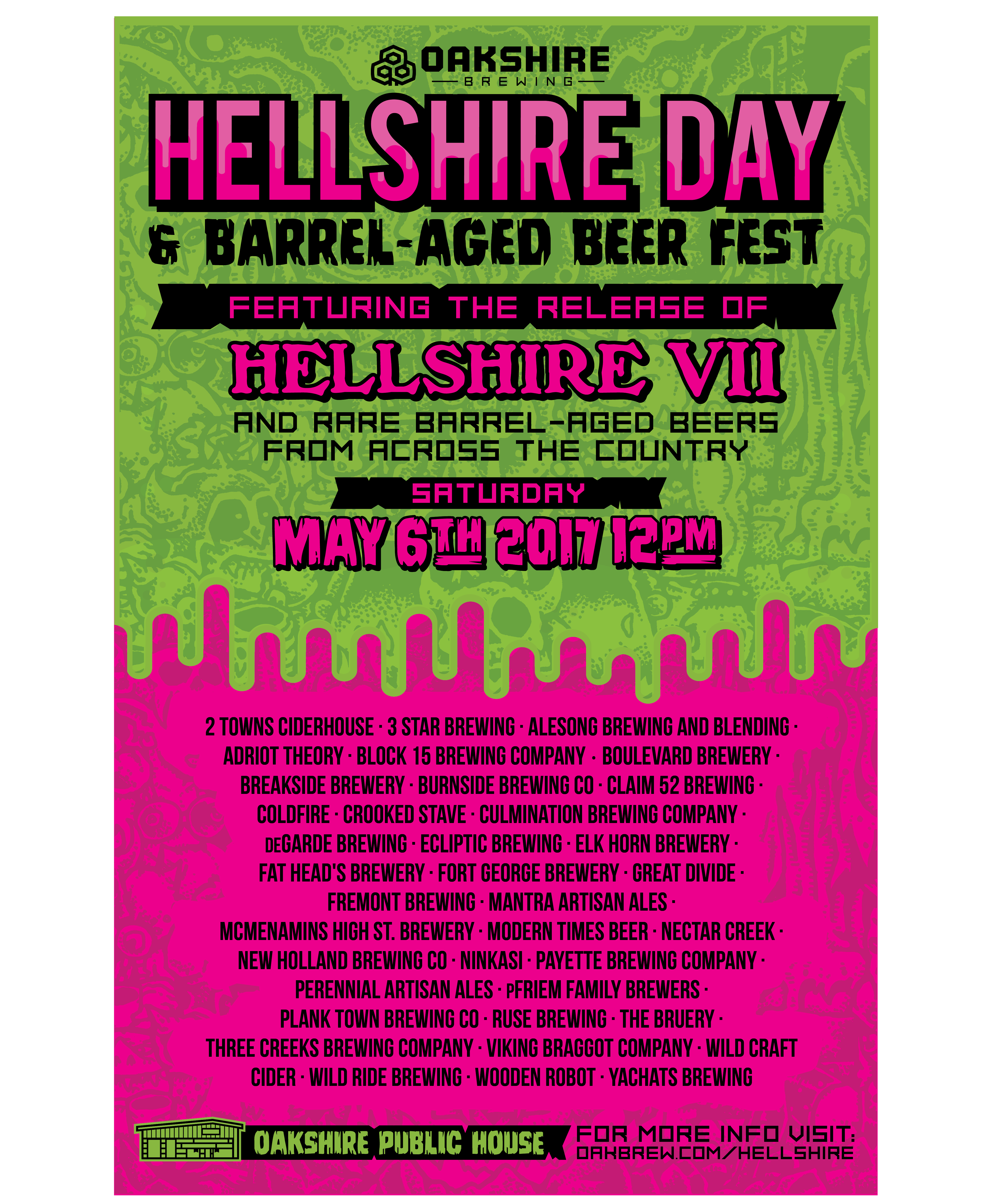Oakshire Brewing Announces Brewery List For Hellshire Day