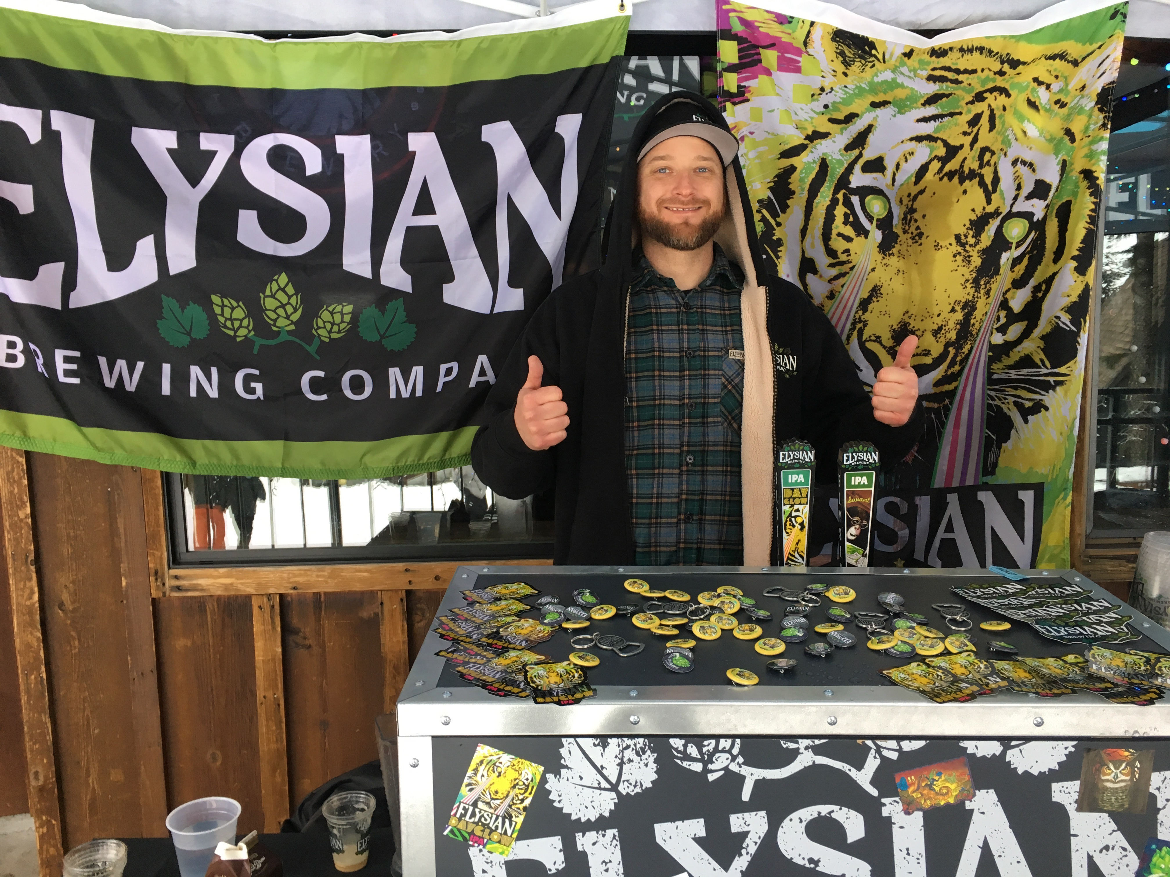 Dave Chappell from Elysian Brewing at Mt. Hood Skibowl.