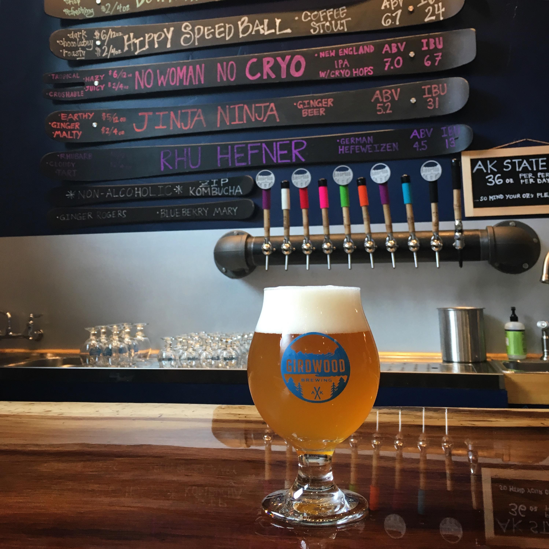 During July we made a visit to Girdwood Brewing near Alyeska Resort.