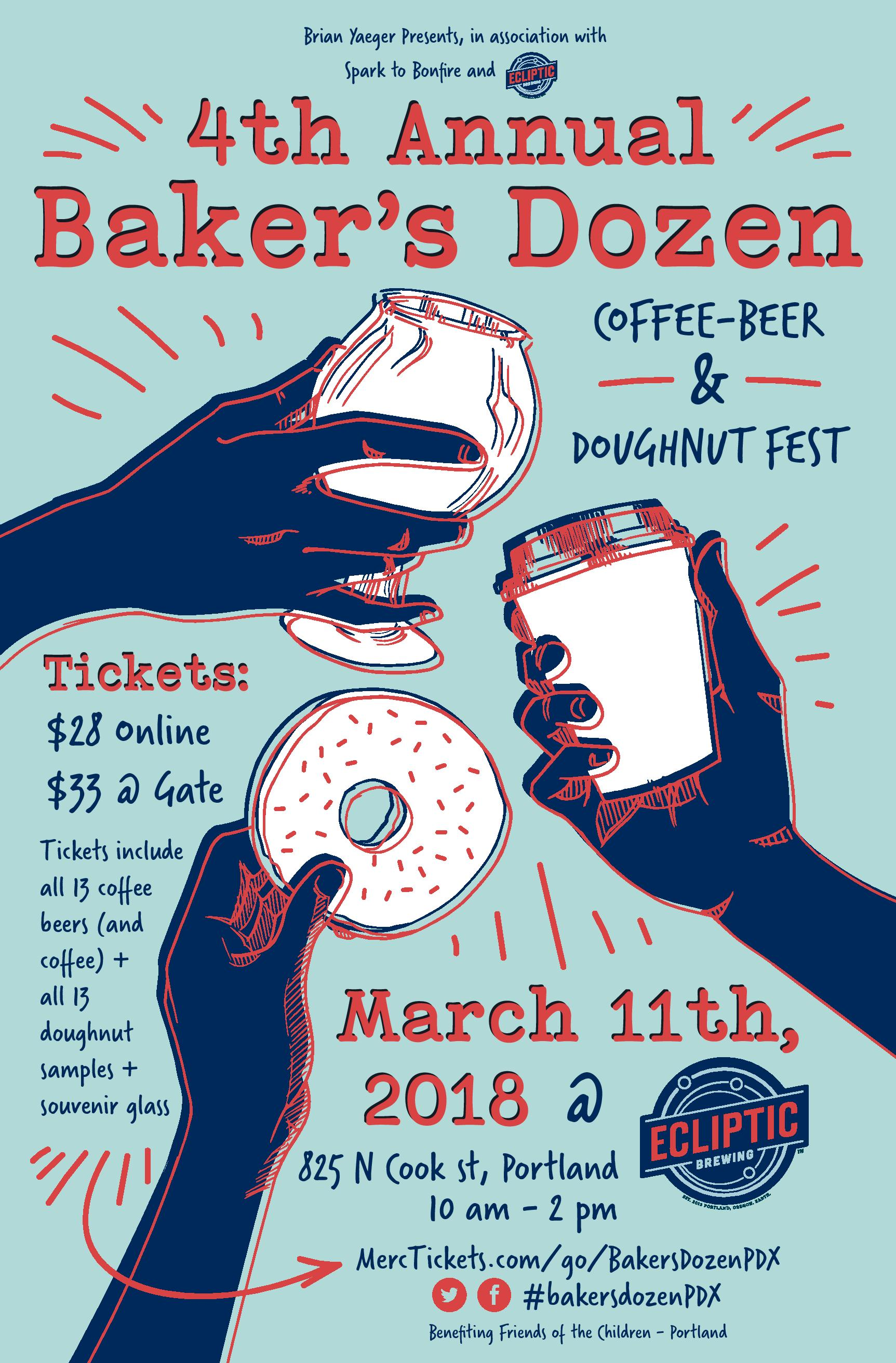 4th Annual Baker's Dozen Poster