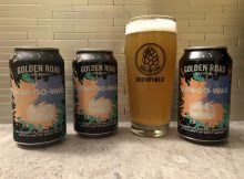 Golden Road Brewing Man-Go-War Wheat Ale brewed in collaboration with Michael Flinn & Jonathan Billings, winners of BEERLAND Season Two.