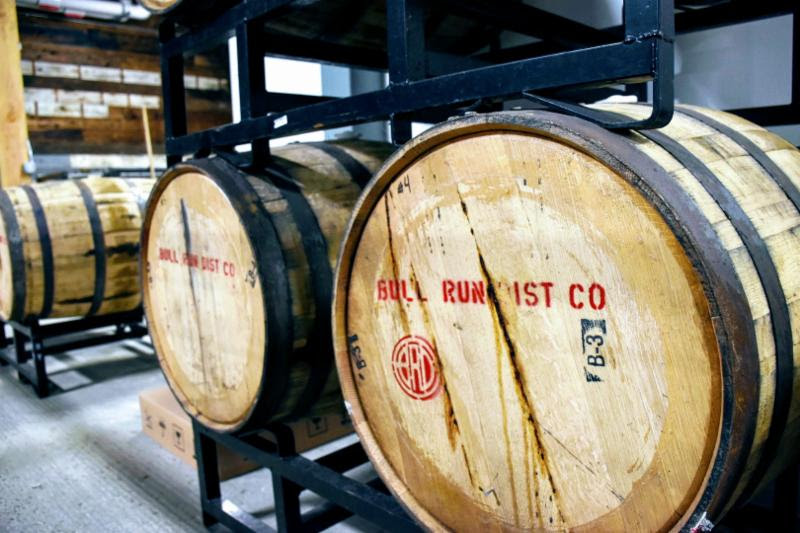 Love, Lost At Sea aged in Bull Run Distillery barrels. (image courtesy of Buoy Beer)
