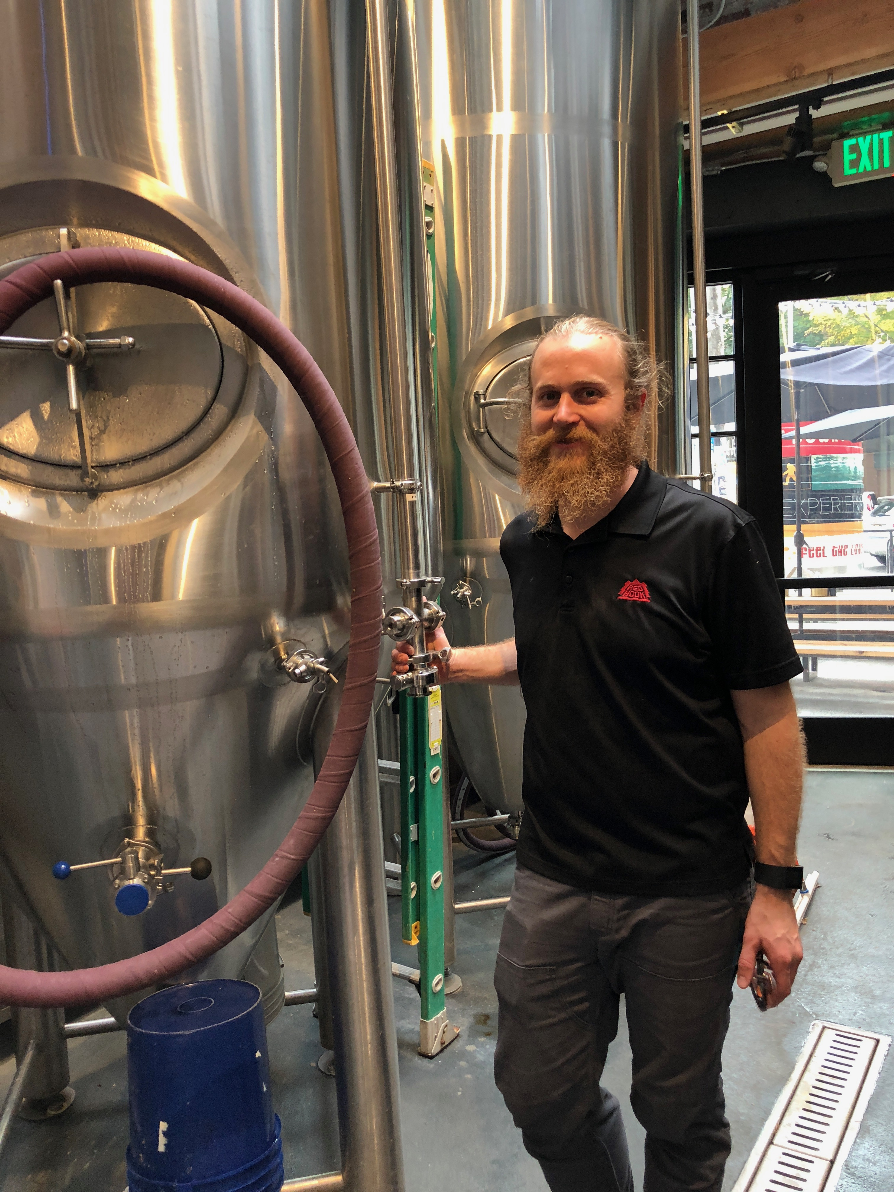 Nick Crandall, Head Brewer at Redhook BrewLab in Seattle.