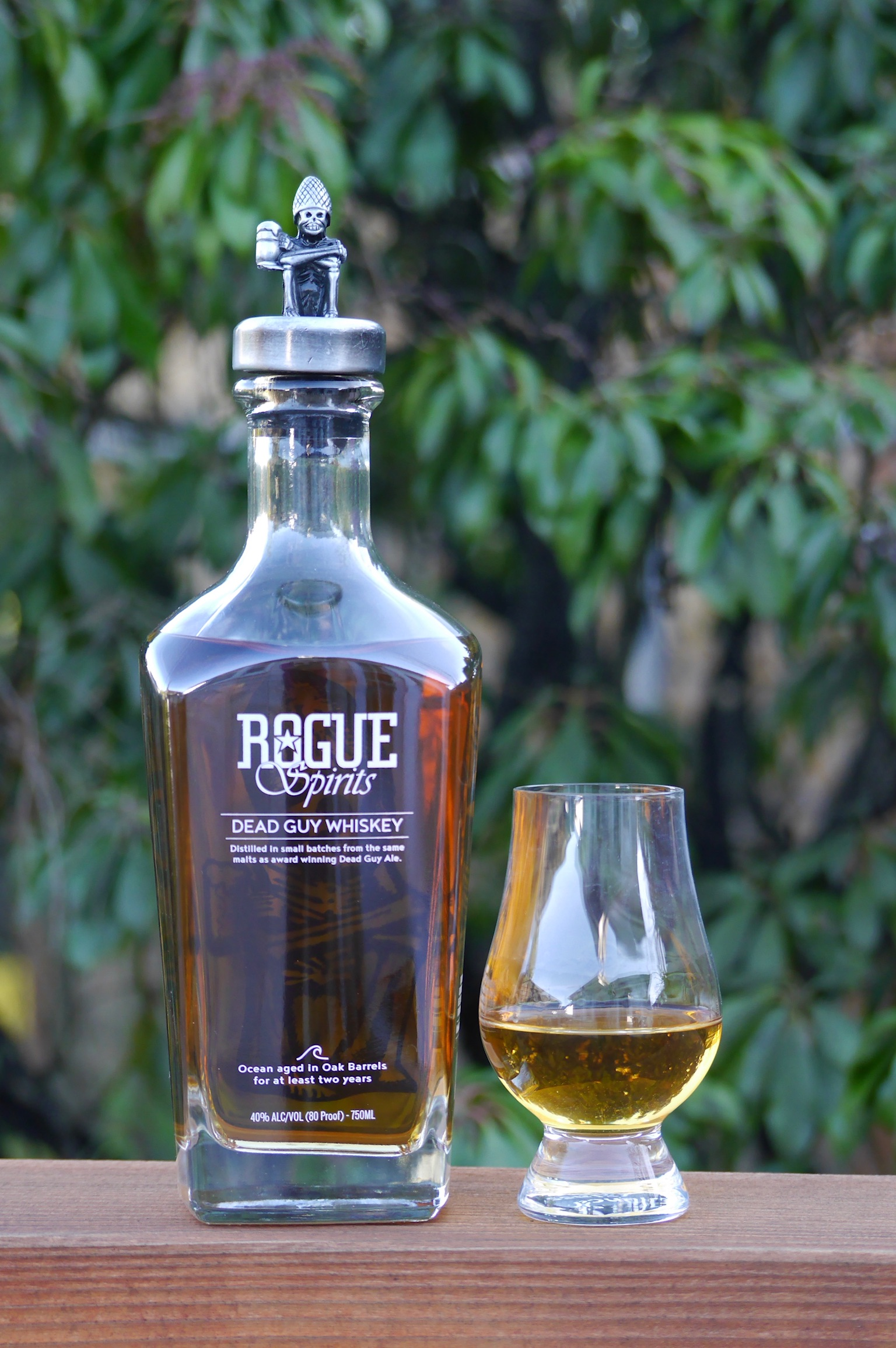 A dram of Rogue Spirits Dead Guy Whiskey. (photo by Cat Stelzer)