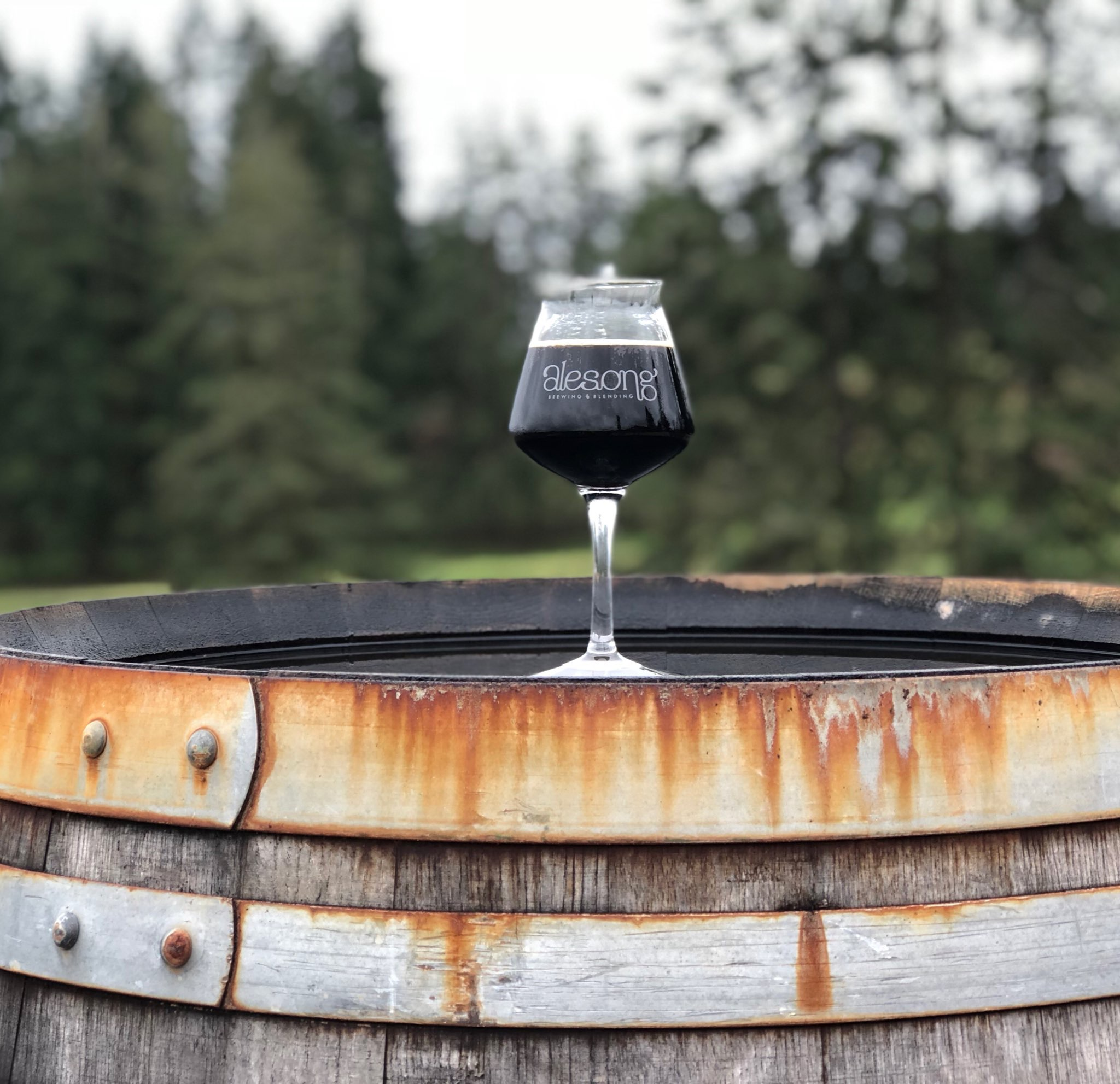 Alesong Brewing & Blending new release of Rackhouse Reserve. (photo by Cat Stelzer)