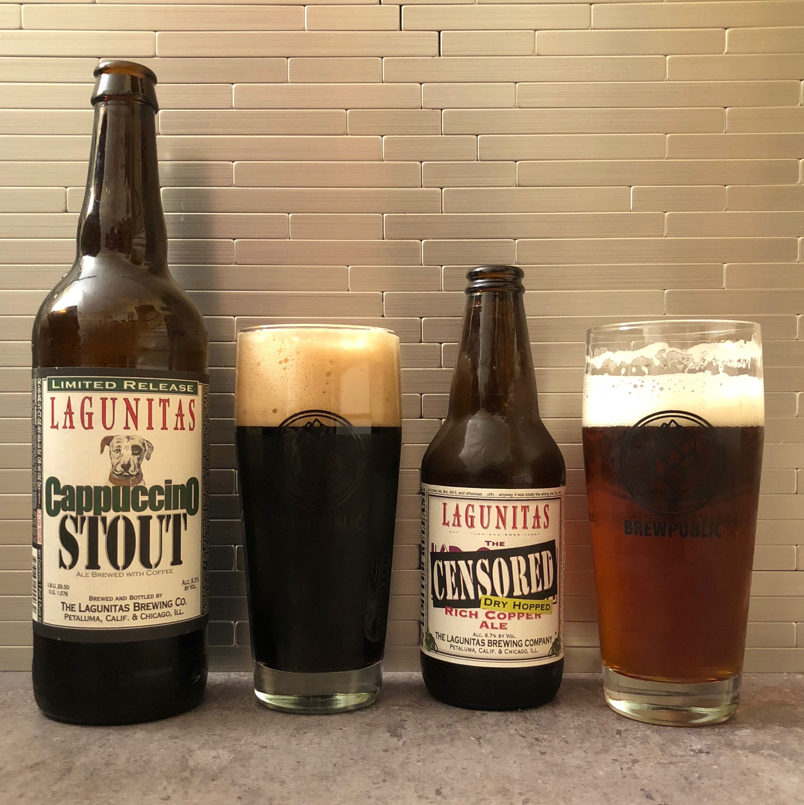 Lagunitas Brewing's Cappuccino Stout and Dry Hopped Censored Ale