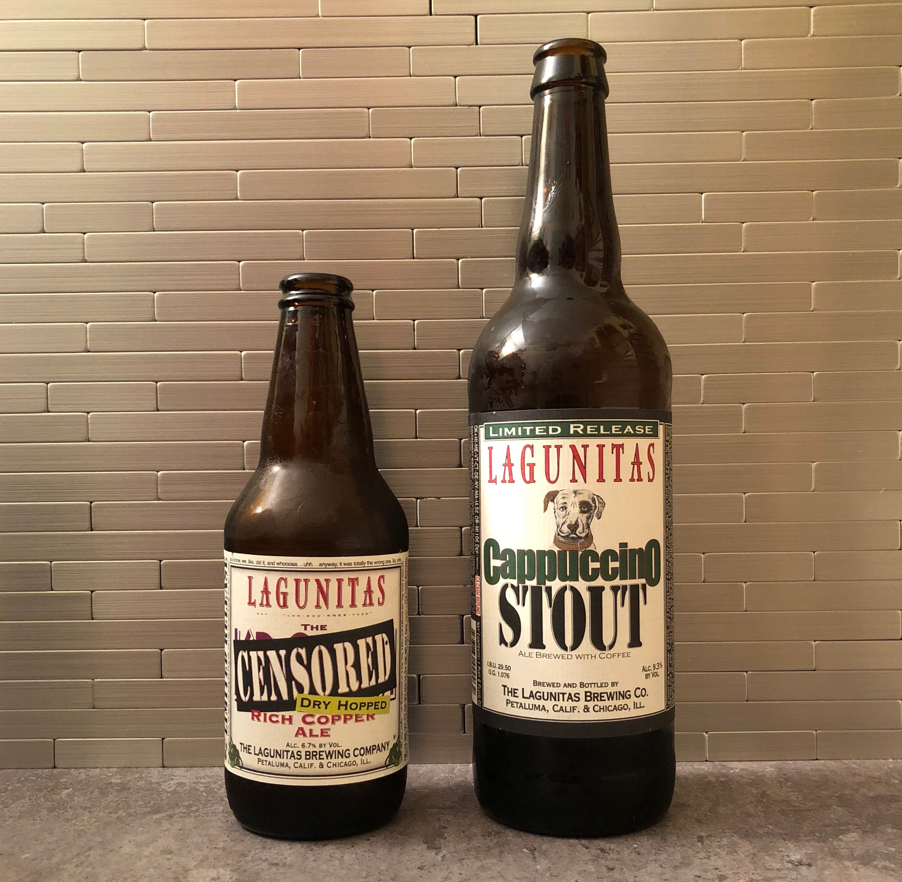 Lagunitas Brewing's Dry Hopped Censored Ale and Cappuccino Stout