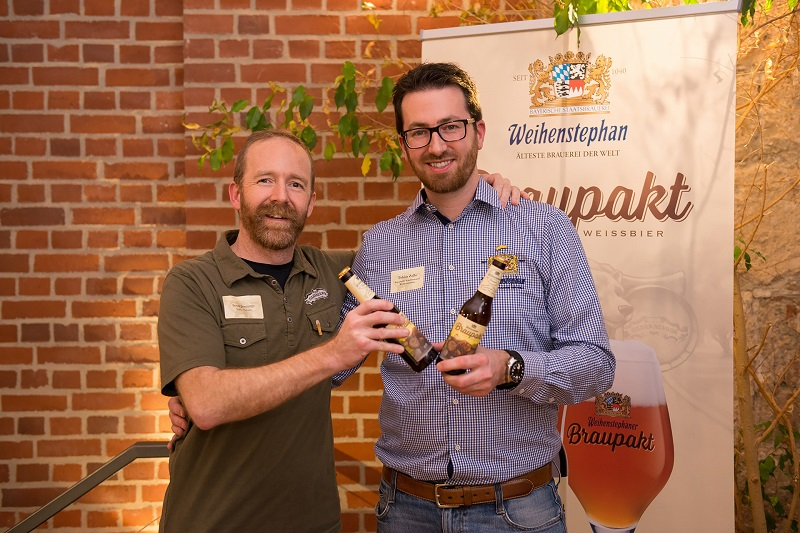 Scott Jennings, head brewmaster at Sierra Nevada (left) and Tobias Zollo, head brewmaster at the Bavarian State Brewery Weihenstephan (right) (photograph: Bavarian State Brewery Weihenstephan)