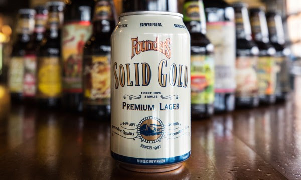 image of Solid Gold Premium Lager courtesy of Founders Brewing