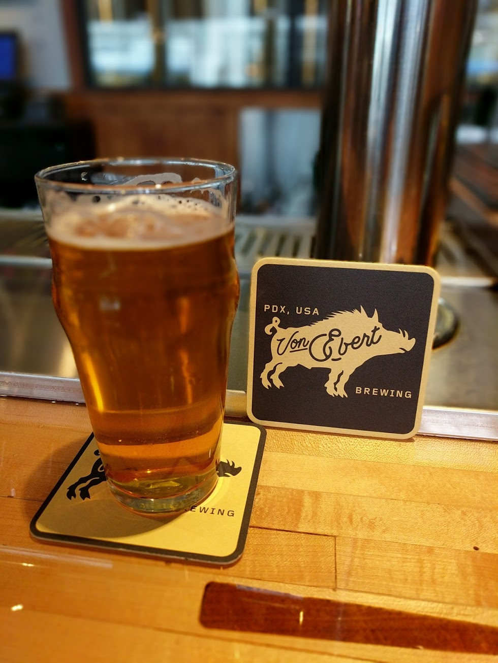 A pint at the new Von Ebert Brewing. (photo by Nick Rivers)