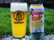 A pint pour of the new Rainier Radler.