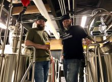 Brendan Greenen and Mike Hunsaker, co-founders of Grains of Wrath Brewing located in Camas, Washington.