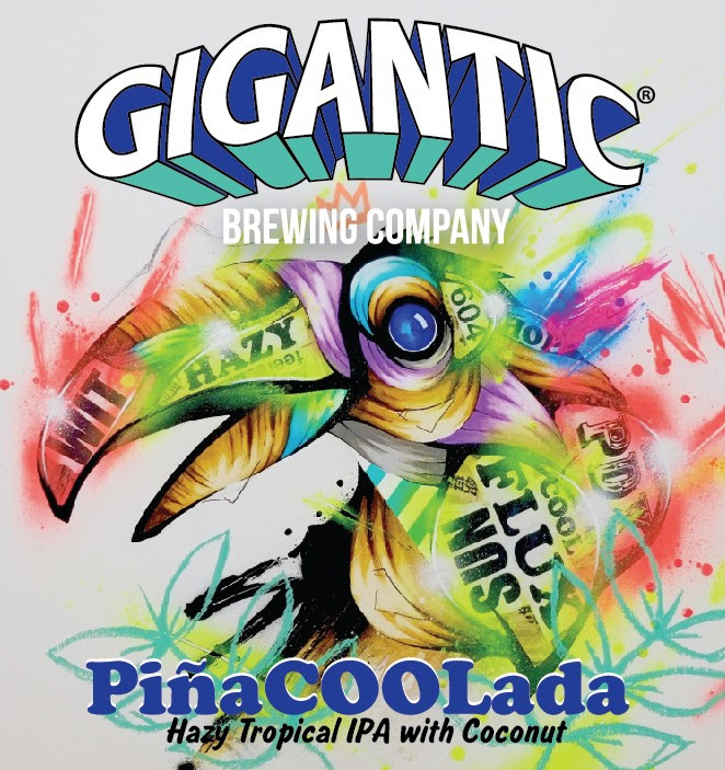 Gigantic Brewing PiñaCOOLada Collaboration with Superflux Brewing