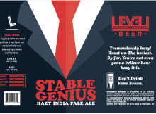 Level Beer Stable Genius Hazy India Pale Ale Label