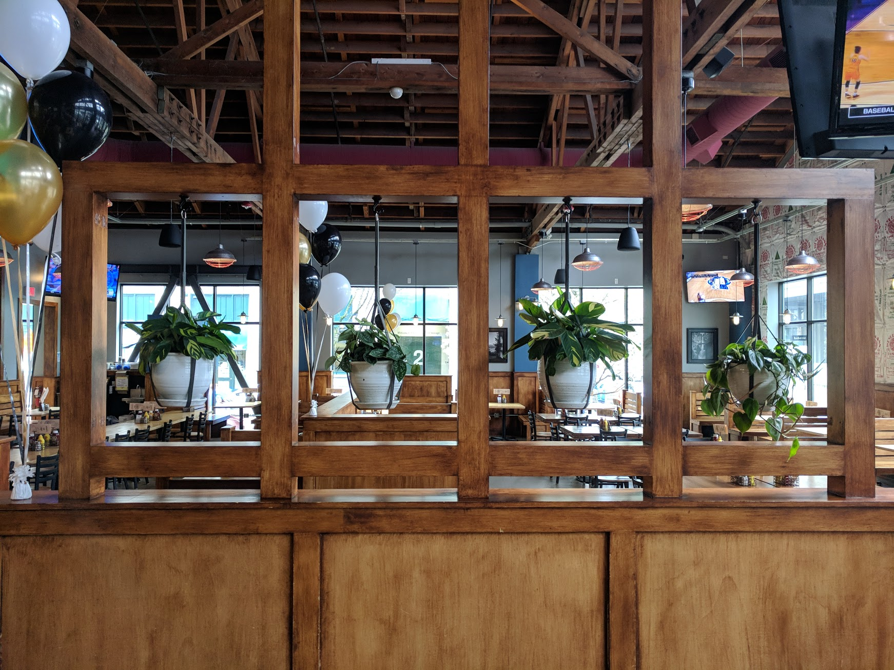 Looking from the bar area to the restaurant side at Von Ebert Brewing. (photo by Nick Rivers)