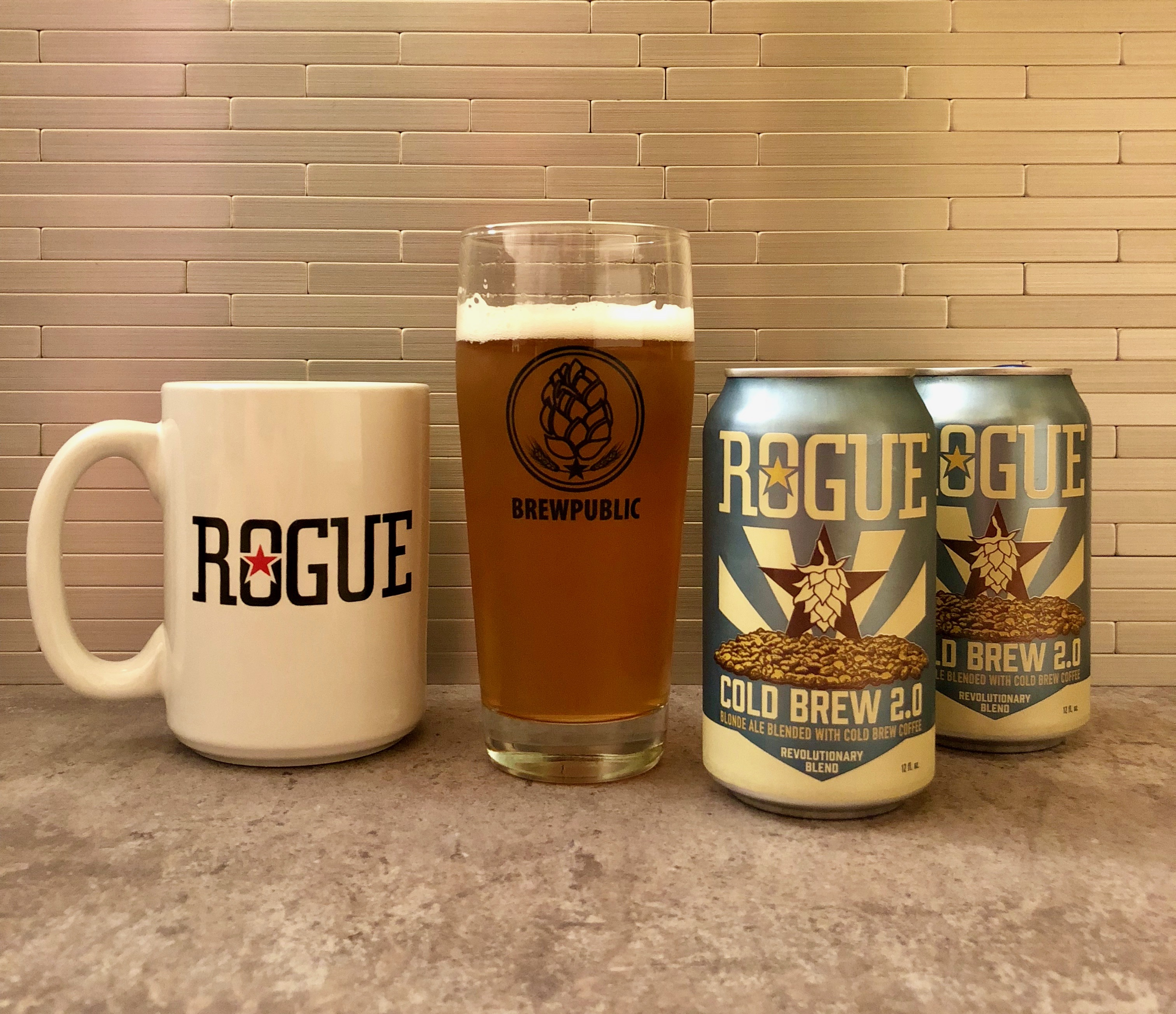 Rogue Ales Releases Cold Brew 2.0 in 12 ounce cans.