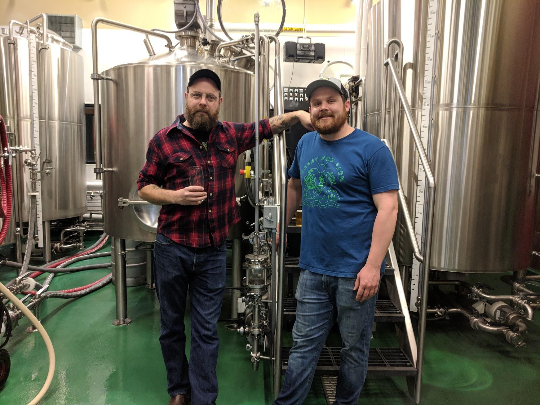 Sean Burke and Bryan Hochrine at Von Ebert Brewing. (photo by Nick Rivers)