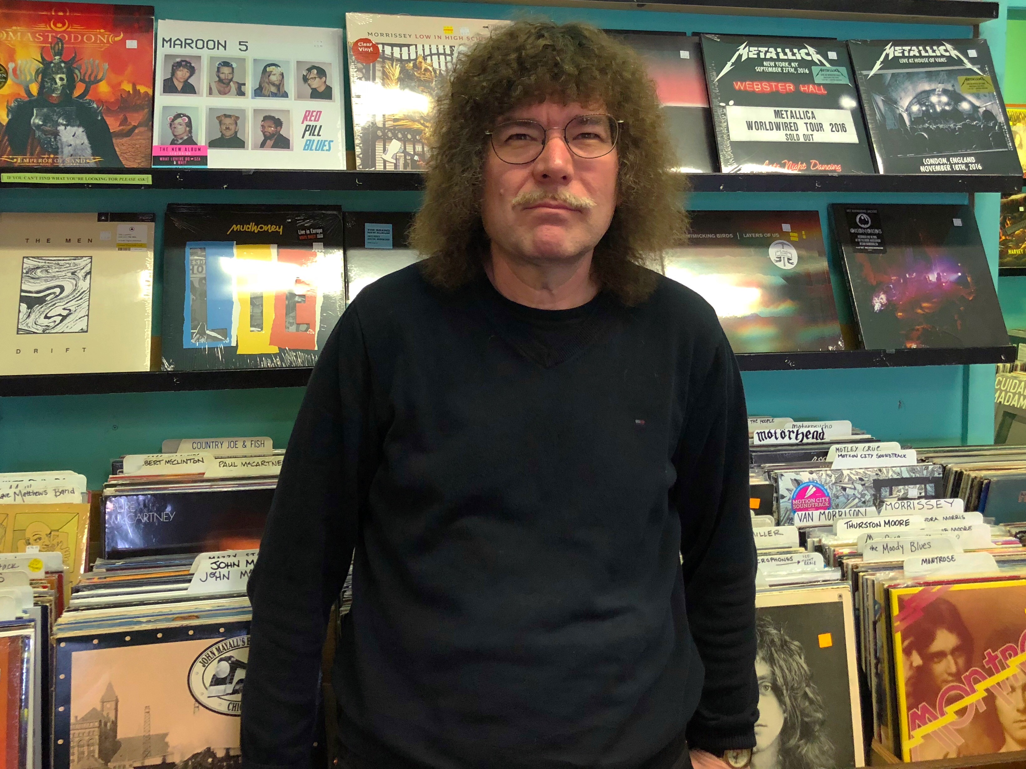 Terry Currier, owner of Music Millennium in Portland, Oregon.