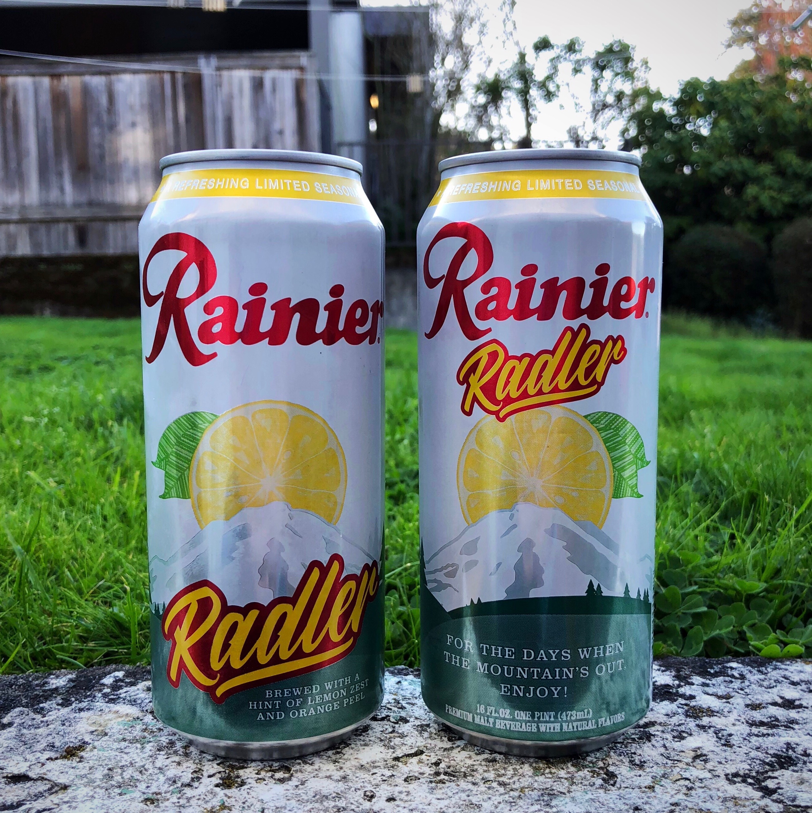The label on the new Rainier Radler.