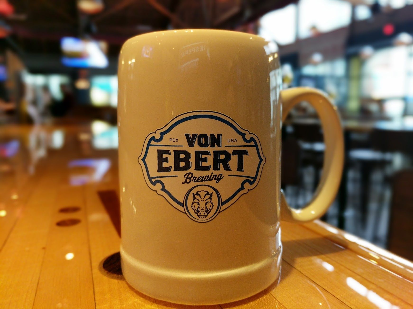 The new Stein Society at Von Ebert Brewing will be a club for beer drinkers to join. (photo by Nick Rivers)