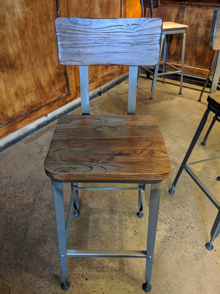 The new chairs at Von Ebert Brewing. (photo by Nick Rivers)