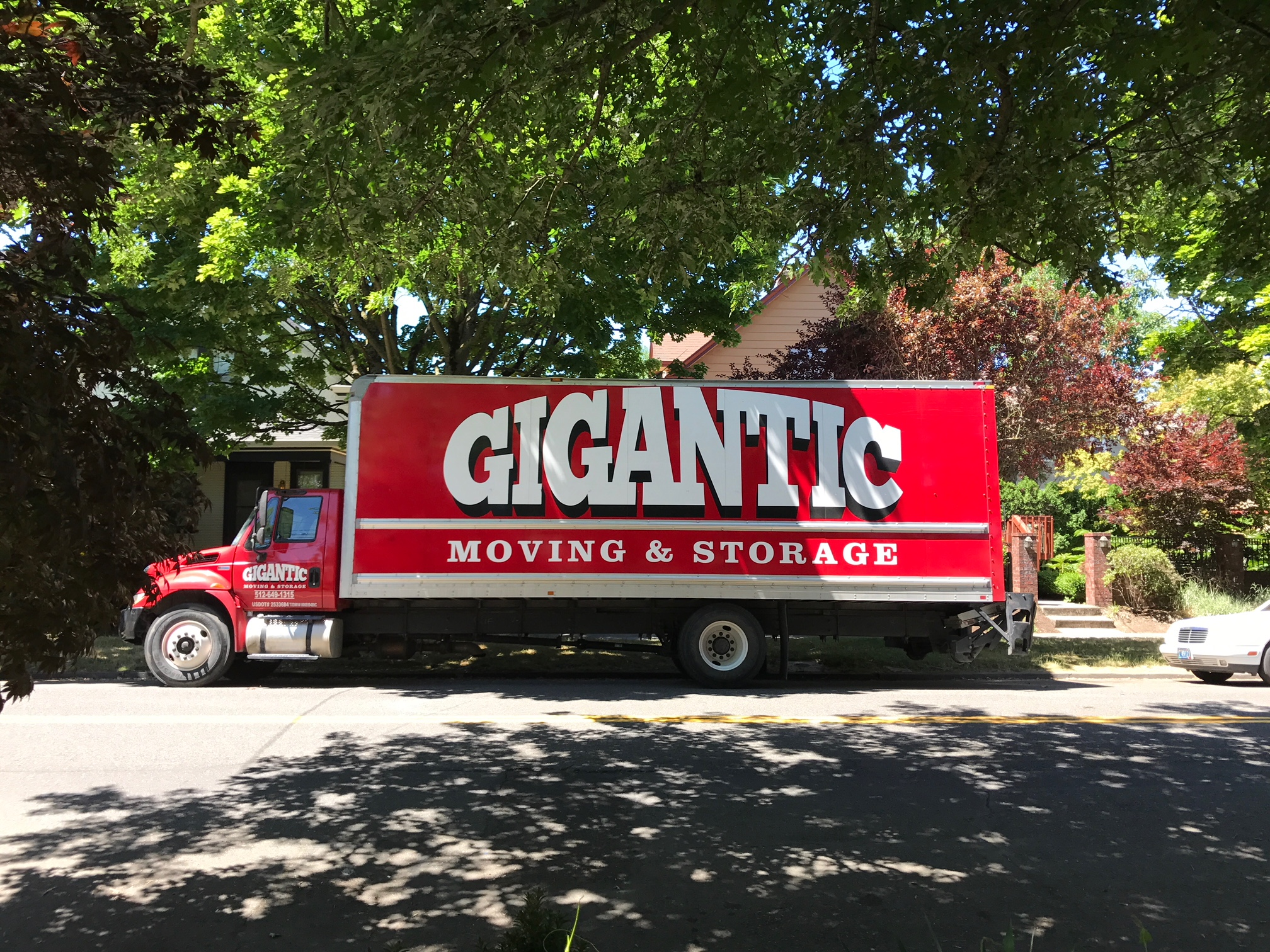 The new fleet of trucks for Gigantic Brewing & Moving. (photo by Kerry Finsand)