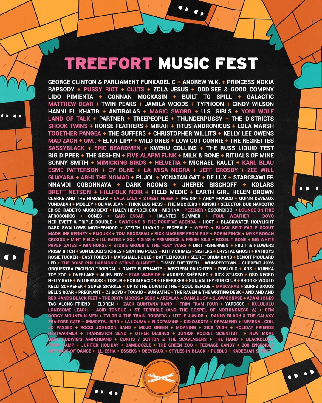 Treefort Music Fest 2018 Lineup