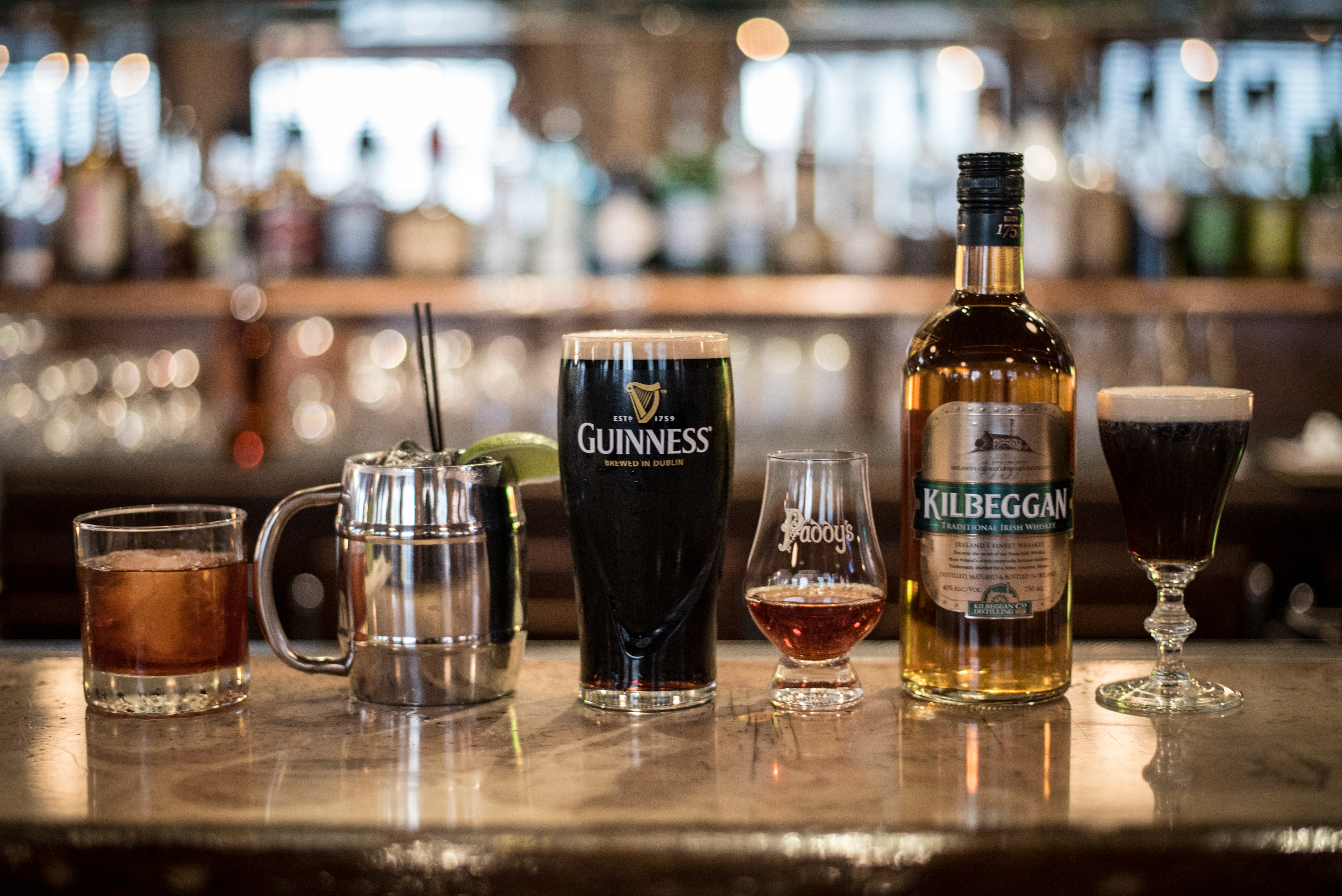 image of Guinness and Kilbeggan at Paddy's St. Patrick's Day Celebration courtesy of Brady Kennedy