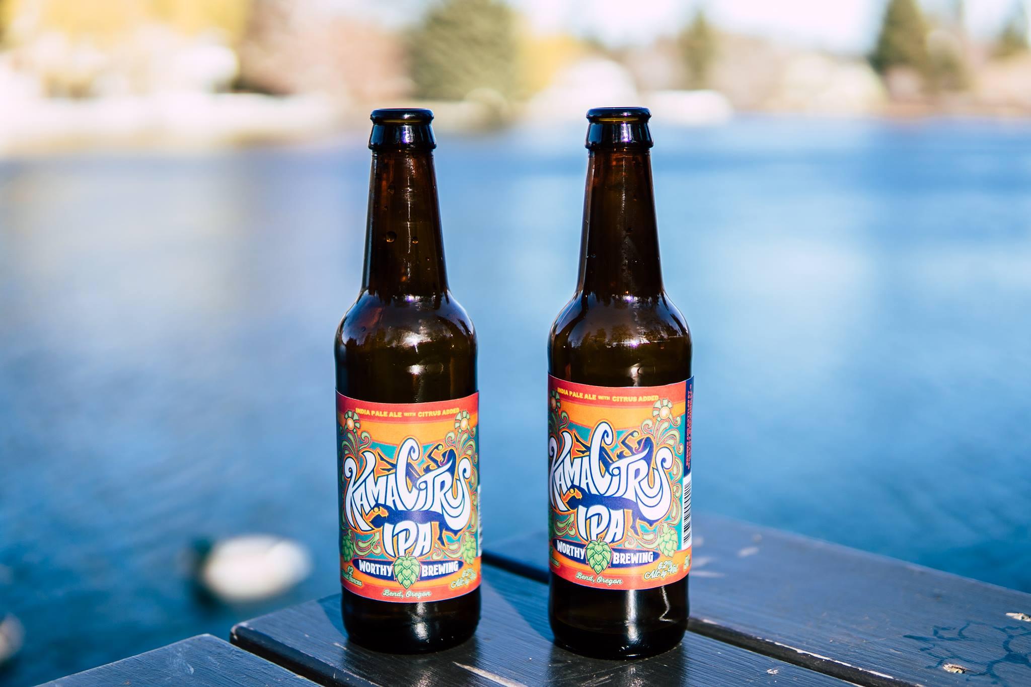 image of Kama Citrus IPA courtesy of Worthy Brewing