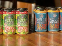 image of Kells Tropical Hazy IPA and Blood Orange Wheat courtesy of Kells Brewery