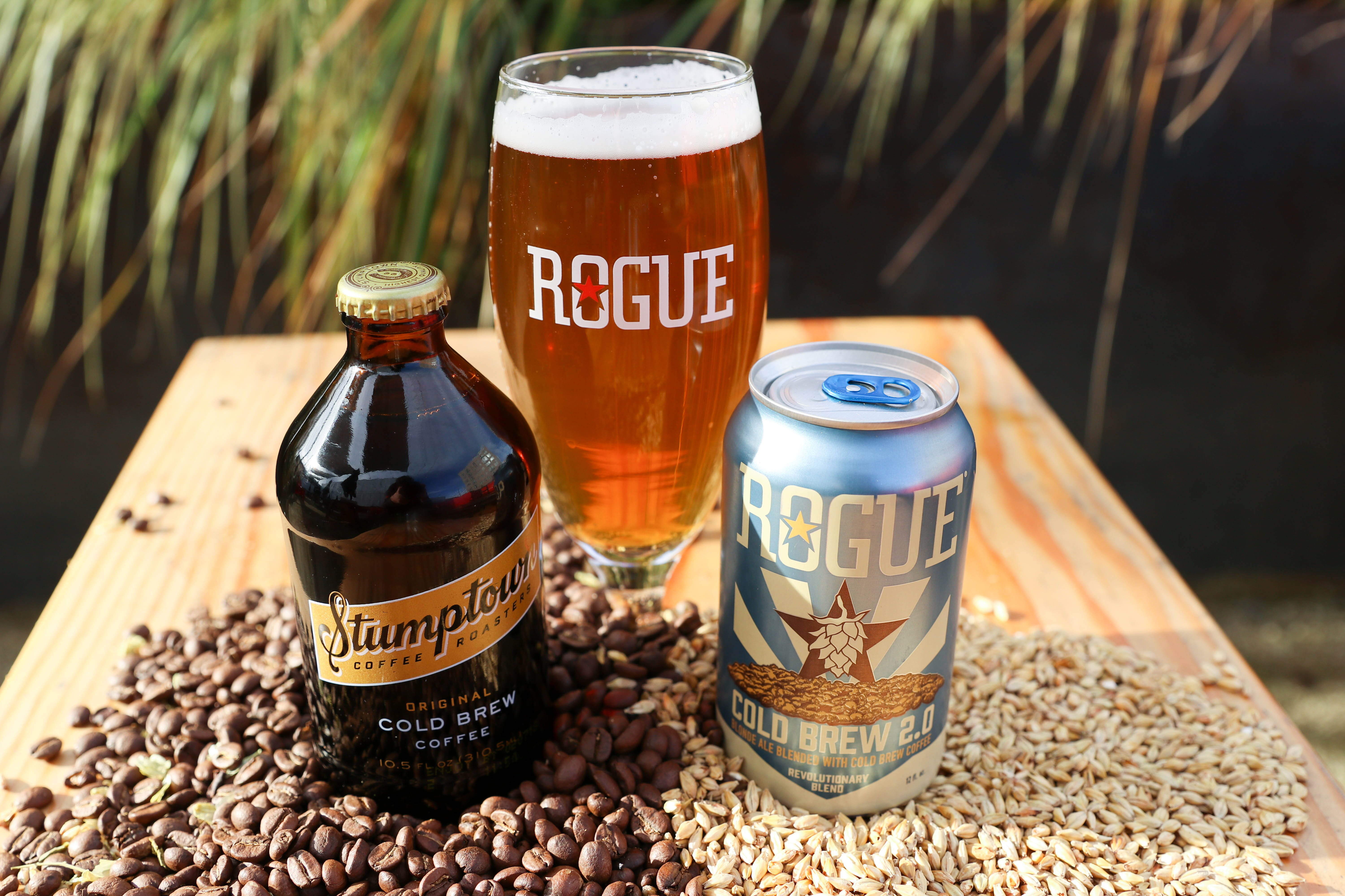 image of Rogue Cold Brew 2.0 and Stumptown Cold Brew Coffee courtesy of Rogue Ales