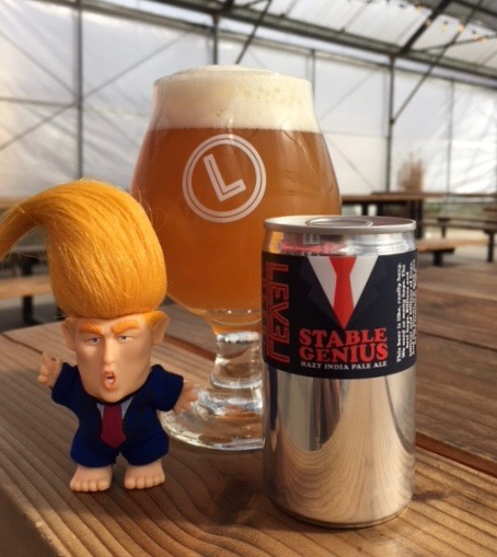 image of Stable Genius Hazy IPA courtesy of Level Beer