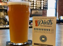 A beer at BridgePort Brewing, one stop on the Pints for Parkinson's Passport that benefits the Brian Grant Foundation.