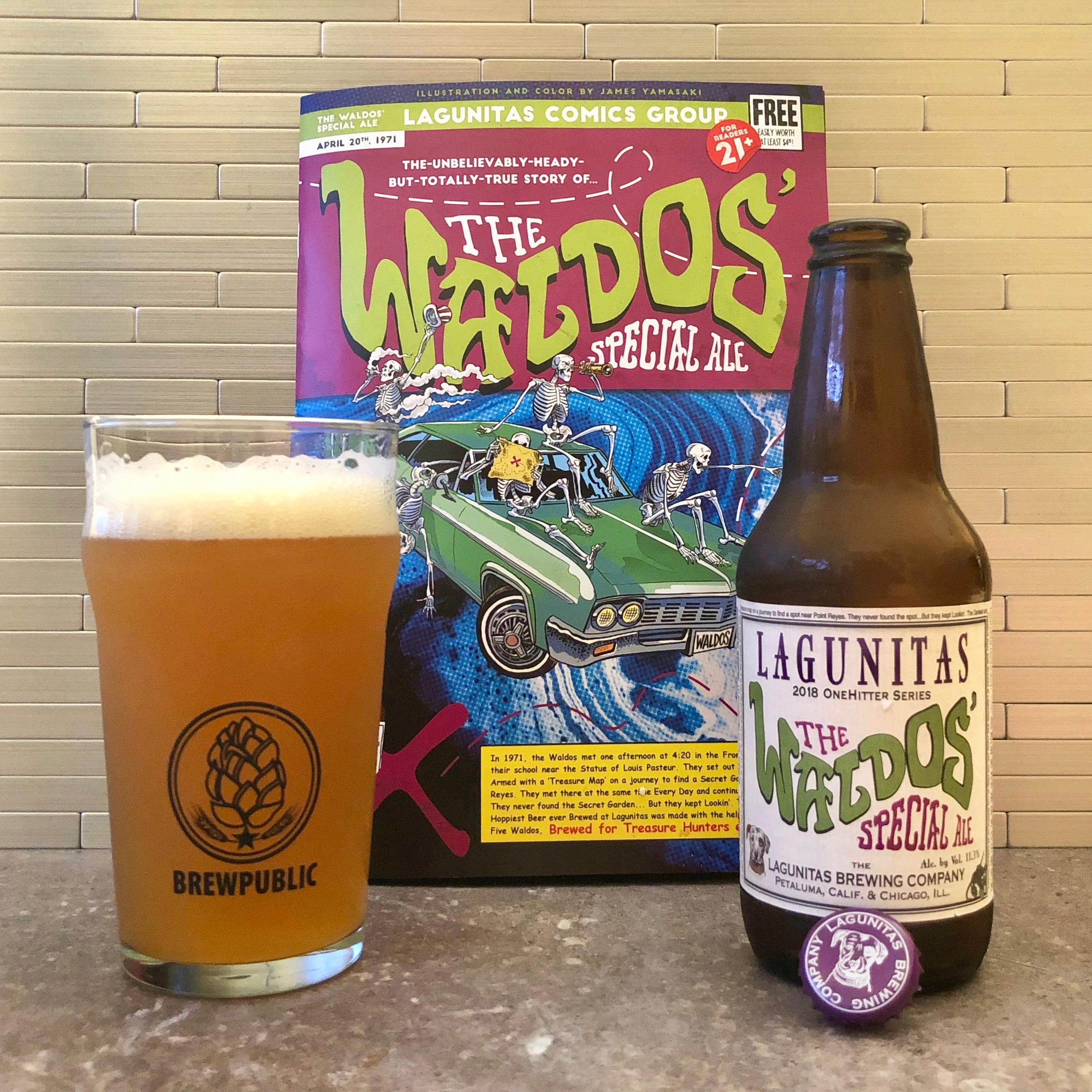 Lagunitas Brewing celebrates 420 Day with its annual release of The Waldos' Special Ale.