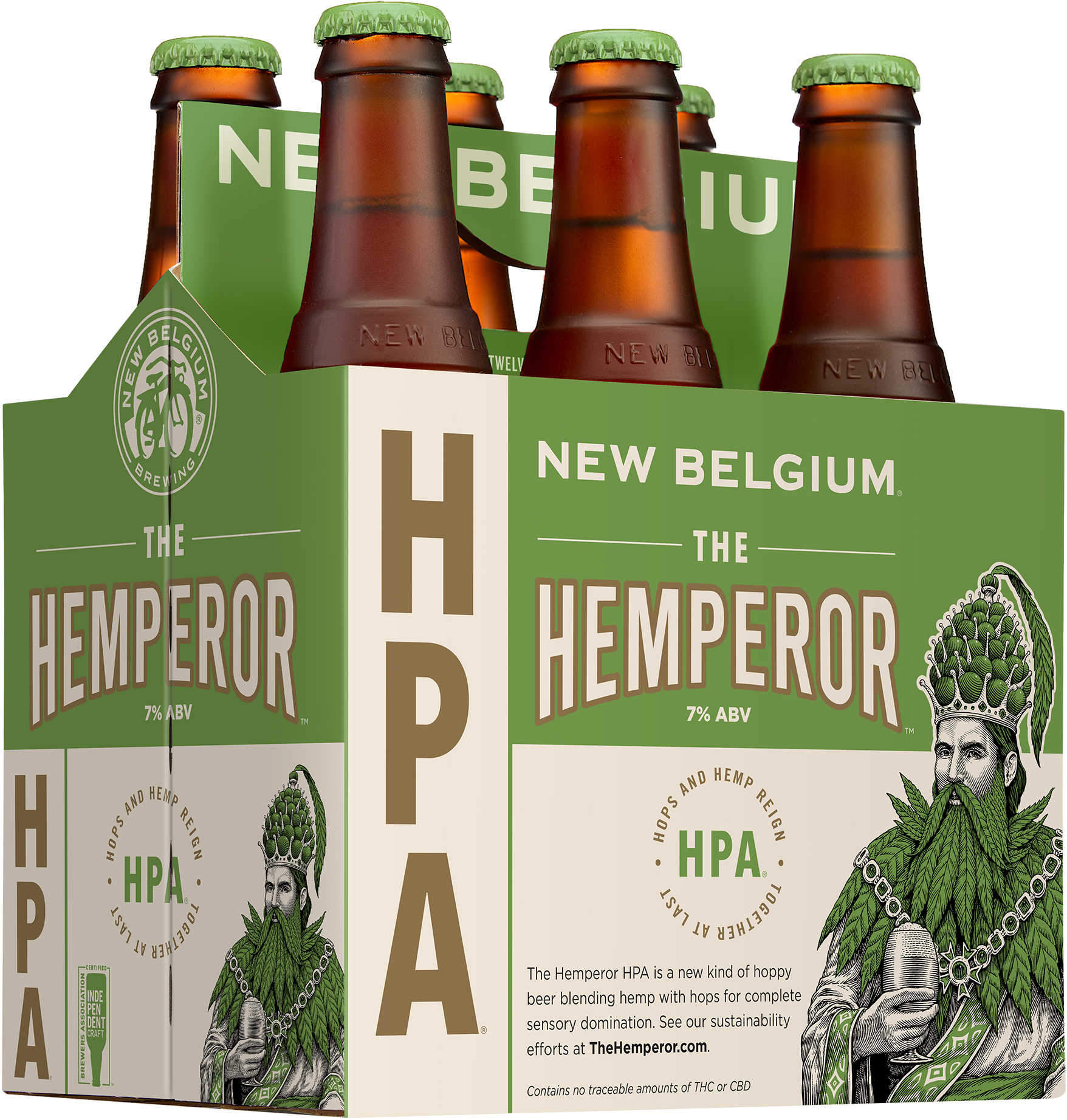 New Belgium Brewing The Hemperor HPA 6 Pack