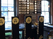 The new tap list of rotating specialty beers at BridgePort Brewing.