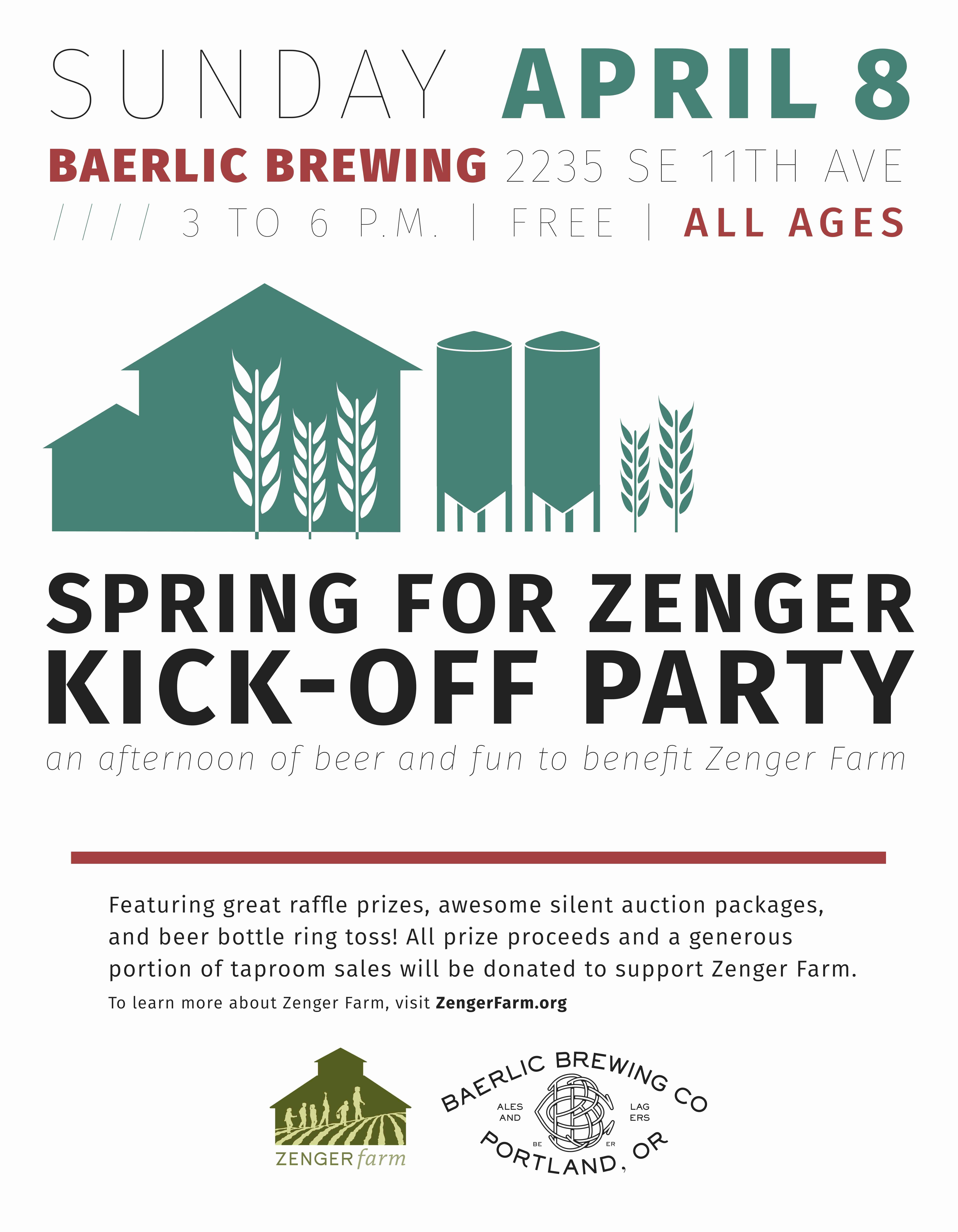 Spring for Zenger KickOff Party at Baerlic Brewing