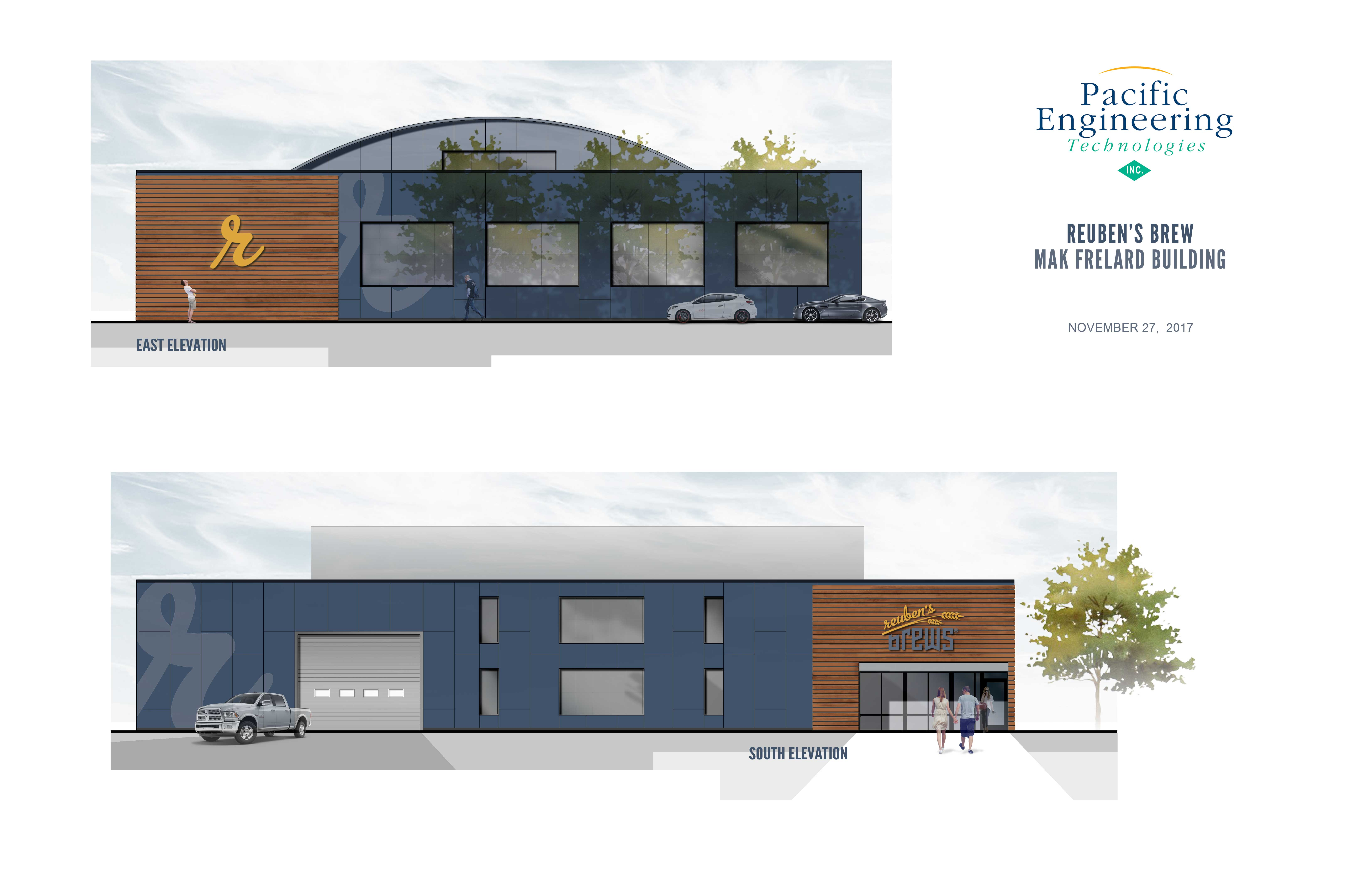 image of Reuben's Brews new brewery courtesy of Pacific Engineering Technologies
