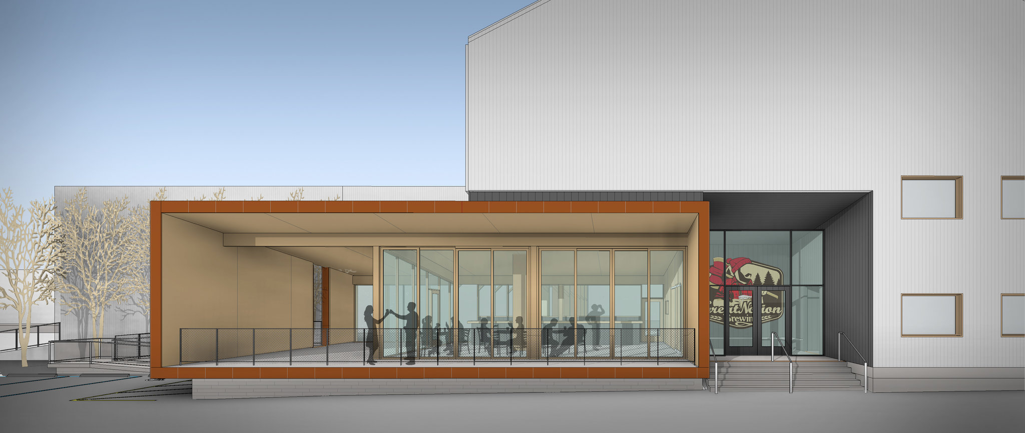 image of the forthcoming Great Notion Brewing location in Northwest Portland courtesy of ZGF Architects