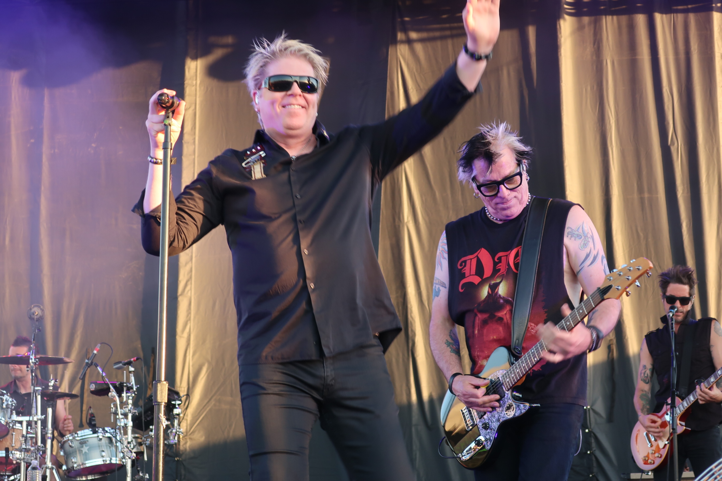 Dexter Holland and Noodles of The Offspring at the 2018 stop of Sabroso Craft Beer, Taco & Music Festival in Portland, Oregon.