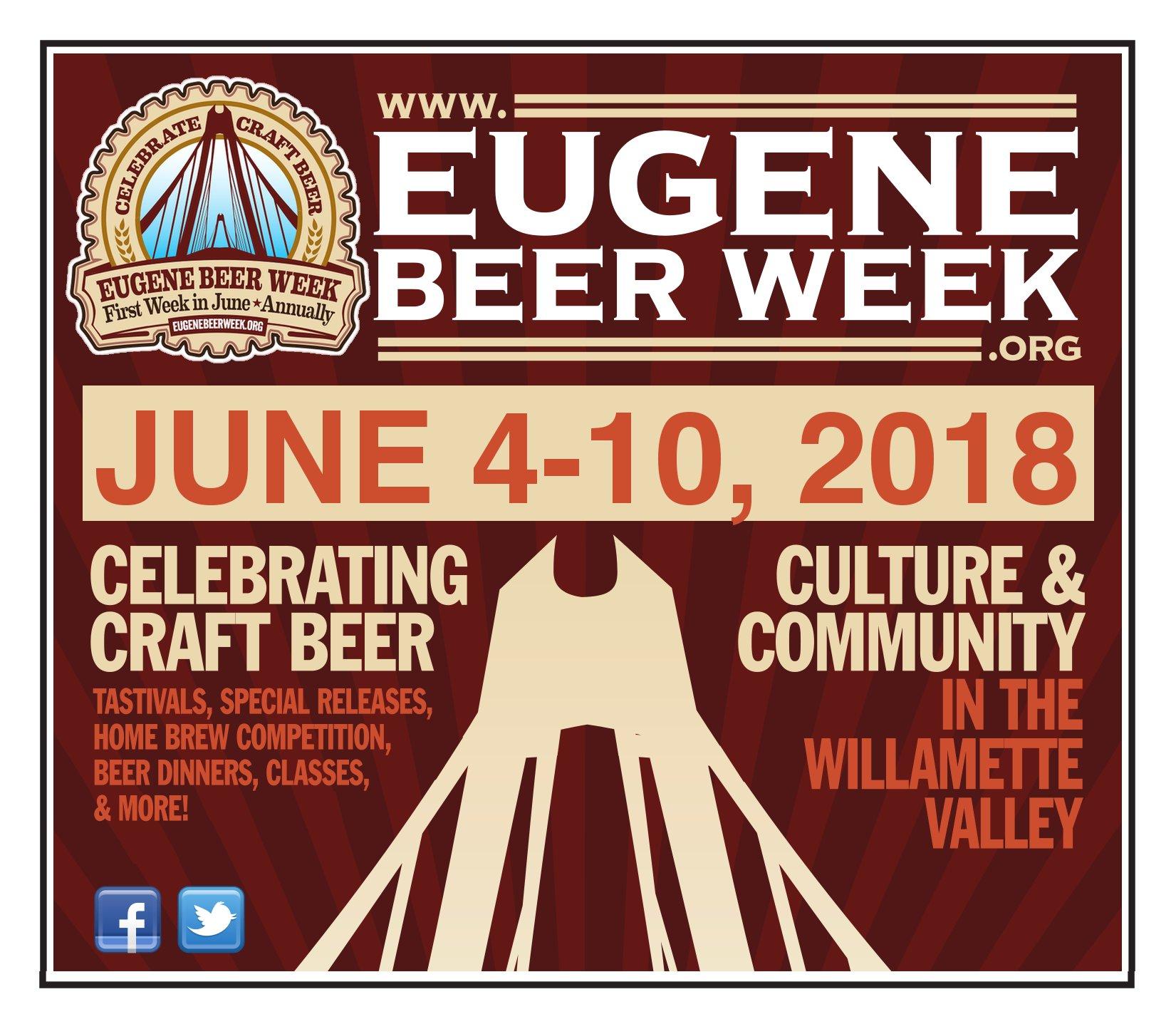 8th Annual Eugene Beer Week – June 4-10, 2018