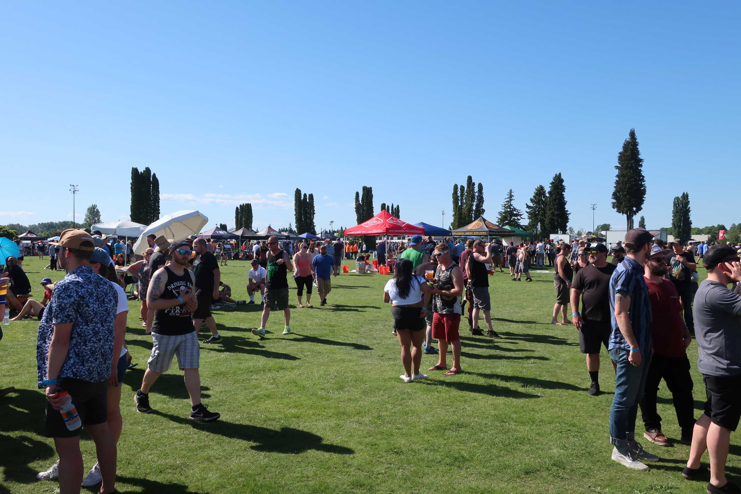 Festive crowd at the 2018 stop of Sabroso Craft Beer, Taco & Music Festival in Portland, Oregon.