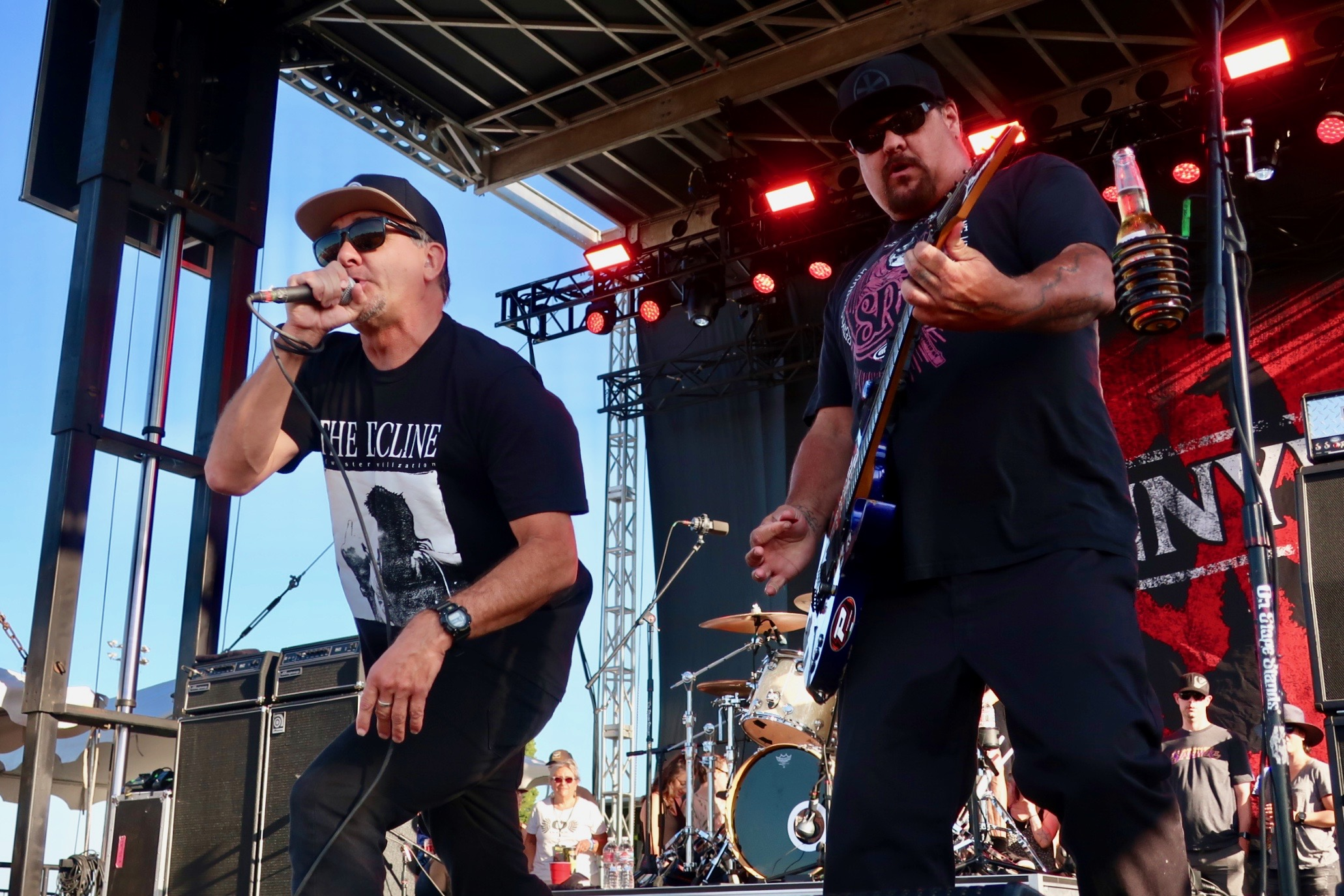 Jim Lindberg and Fletcher Dragge of Pennywise at the 2018 stop of Sabroso Craft Beer, Taco & Music Festival in Portland, Oregon.